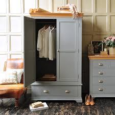 Painted Furniture Bedroom Sandringham Grey Gents Wardrobe Including Free Delivery 1043001