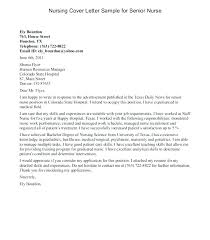 Example Of Nursing Cover Letters Nursing Cover Letter Example Cover Letter Example 1 How To Write A