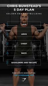 Bodybuilding Chart Free Download Chris Bumsteads 5 Day Plan Golden Era Bodybuilding Train