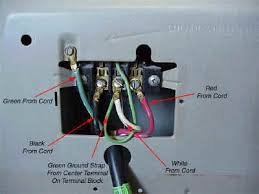 changing 3 prong cord to 4 prong cord on amana clothes dryer