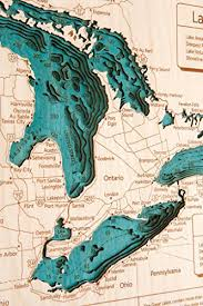 Maple Lake In Wright Mn 3d Map 16 X 20 In Laser Carved