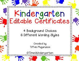 Preschool Graduation Certificate Editable Kindergarten Certificates Completion Diploma Editable Kinderland