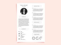 Modern Minimalist Resume Free Template Miass Resume Free Curriculum Vitae Template With Minimalist Design