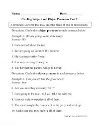 Pronoun-worksheets-6th-grade & Worksheets 6th Grade Grammar ...