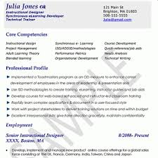 Samples in Instructional Designer Resume