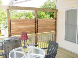 Patio Privacy Fence Diy Simple Louvered Privacy Fence For Deck Patio In Your