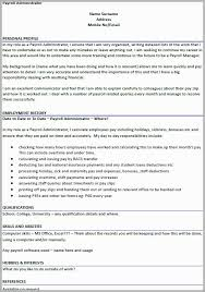 Payroll Manager Resume Example Free Download