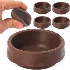 Rubber Caster Cups Upc 1 3 4 Inch f White Rubber