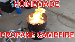 make your own propane campfire diy homemade lp gas fire pit barrell you