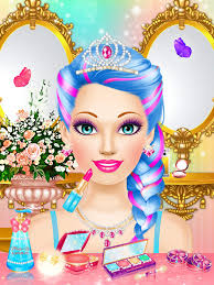 magic princess makeup dress up makeover games screenshot 8