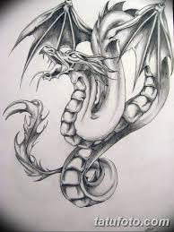 эскиз тату дракон на руку 08032019 Tatufotocom 7 Tatufotocom