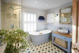 bathroom design company. Ditchling: Wood Panelled Main Bathroom With Encaustic Flooring And Large Shower Design Company R