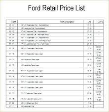 Retail Price List Template Exhibitia Co