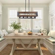 lnc modern farmhouse chandelier black