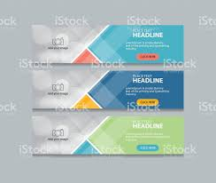 banner design template abstract web banner design template stock vector art 613674254