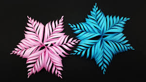 How To Make A 3d Snowflake Colors Paper Diy 3d Paper Snowflake Make For Christmas