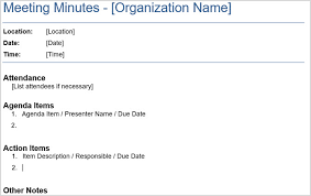 Meeting Agenda Sample Doc Delectable The 48 Best Meeting Minutes Templates For Professionals