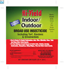 Permethrin Mixing Chart Hi Yield Indoor Outdoor 10 Permethrin Insecticide Label