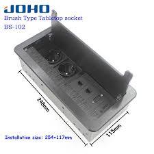 JOHO Brass Alloy Panel Fast 5 Hole Fast Pop Up Floor Socket ...