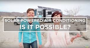 You can just drop it over the roof vent, hook up the power and enjoy the cool air in your rv. Can Off Grid Solar Power Air Conditioning Tinyhousedesign
