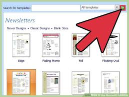 Newspaper Template For Microsoft Works How To Use Microsoft Publisher With Pictures Wikihow