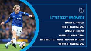 Arsenal Everton 2017 Tickets