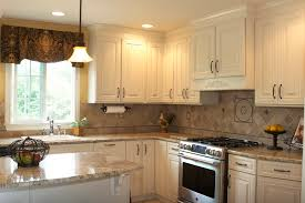 french country kitchen with white cabinets photo - 2