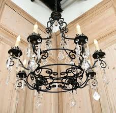 crystal wrought iron chandelier chandelier extraordinary wrought iron and crystal chandelier wrought iron chandelier black iron