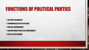 functions of political parties essay functions of political parties
