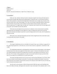 running head ethics essay contest bryan licona ethics essay  essay 2 ethical considerations in open source software csmaster