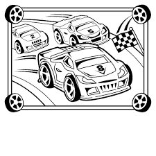 Race Car Coloring Pages Printable Free Futuramame