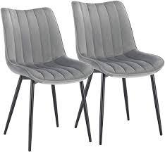 2er Set Küchenstuhl Aus Samt Modell Hanno