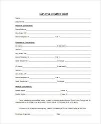 Free 9 Sample Contact Information Forms In Word Pdf