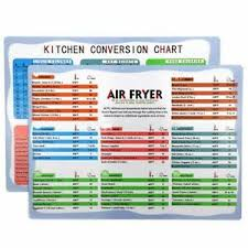 Details About Air Fryer Cooking Time Kitchen Chart Magnets Cheat Sheet Chart Recipes Measure
