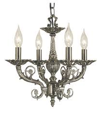 framburg 2874as napoleonic 4 light 15 inch antique silver mini chandelier ceiling light
