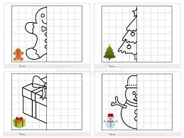 Christmas Theme Activity Sheet - Symmetrical Picture Stock Vector ...