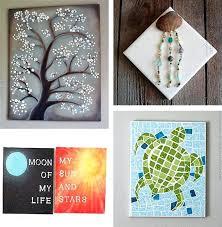 easy canvas painting ideas wall art interior design tutorials free nature