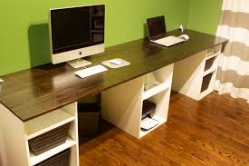 interesting double desks for small spaces new in decorating concept home office set