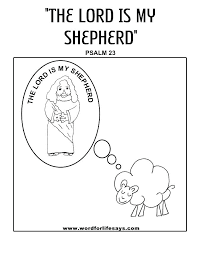 Psalm 23 Printable Coloring Pages Psalms 1 Coloring Pages Psalm