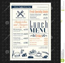 Restaurant Menus Layout Retro Frame Restaurant Lunch Menu Design Stock Vector