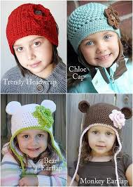 Free Crochet Hat Patterns For Toddlers Custom BeginnerToddlerChildChunky Crochet Ear Flap Hat Patterns