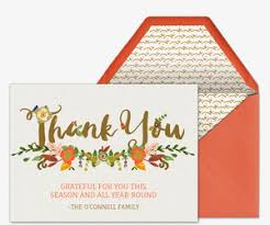 Thank You Cards Design Your Own Premium Thanksgiving Thank You Cards Evite