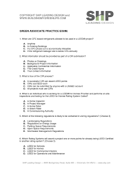 Ga Practice Exam With Answers June41 1 Leadership In Energy And
