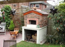 6 outdoor stone oven with a roof