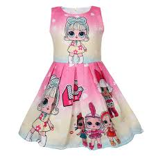2019 100 <b>140cm</b> Surprise Girls Sleeveless Dress <b>Summer</b> CLothing ...
