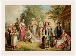 Народные скрепы что есть фольклор и как сегодня изобретаются  Великороссияне разных губерний Слева направо