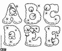 Kleurplaten Winter Alfabet Kleurplaat