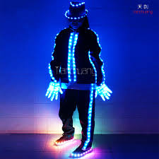 Tron Light Up Clothing Luminous Stage Performance Clothing For Unisex Shiny Dance Costumes Light Up Led Suits Buy Stage Performance Clothing For Women Stage Performance