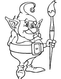 Elf Coloring Pages Free Download Best Elf Coloring Pages On