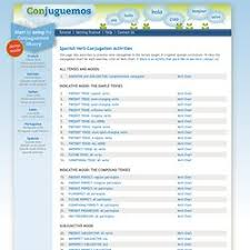 Spanish Verb Conjugation Activities Pearltrees